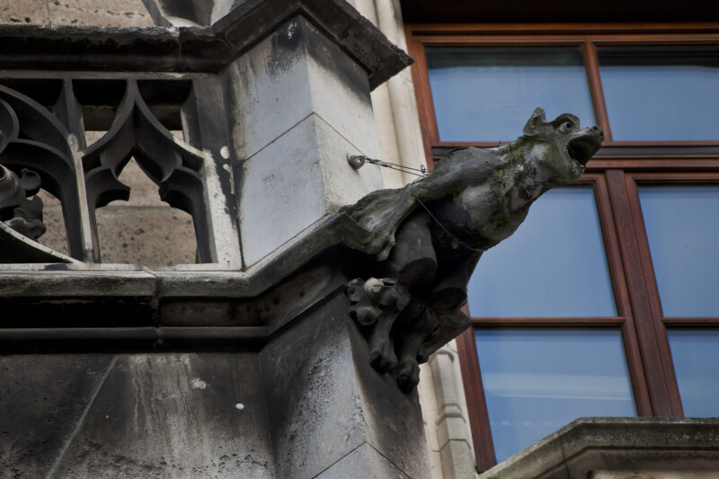 Sculpture of a Gargoyle at New Town Hall