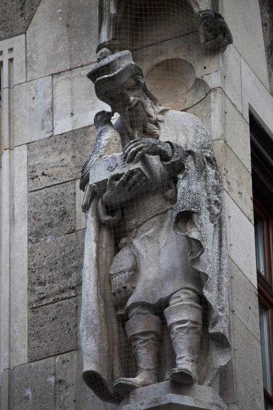 Sculpture of a Man and a Bird