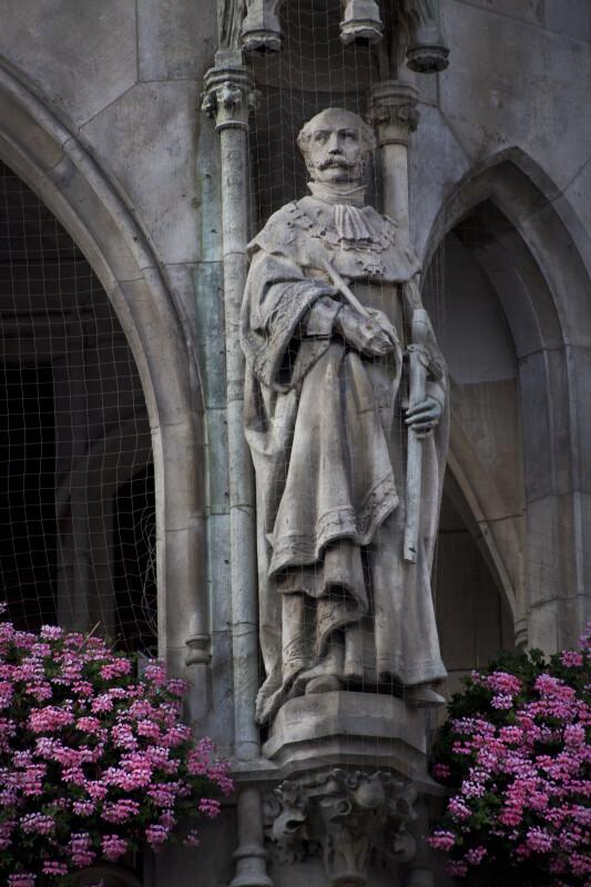 Sculpture of a Man Holding a Sword
