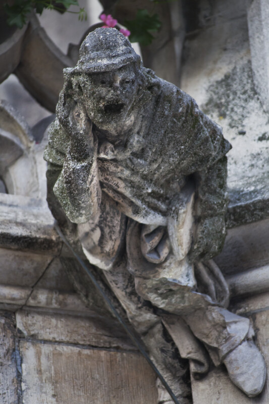 Sculpture of a Man on a Corbel