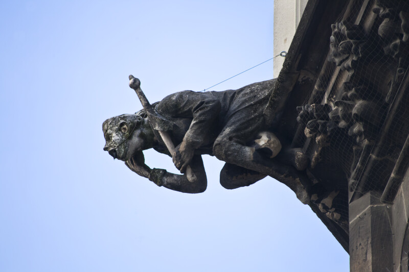 Sculpture of a Man on the New Town Hall