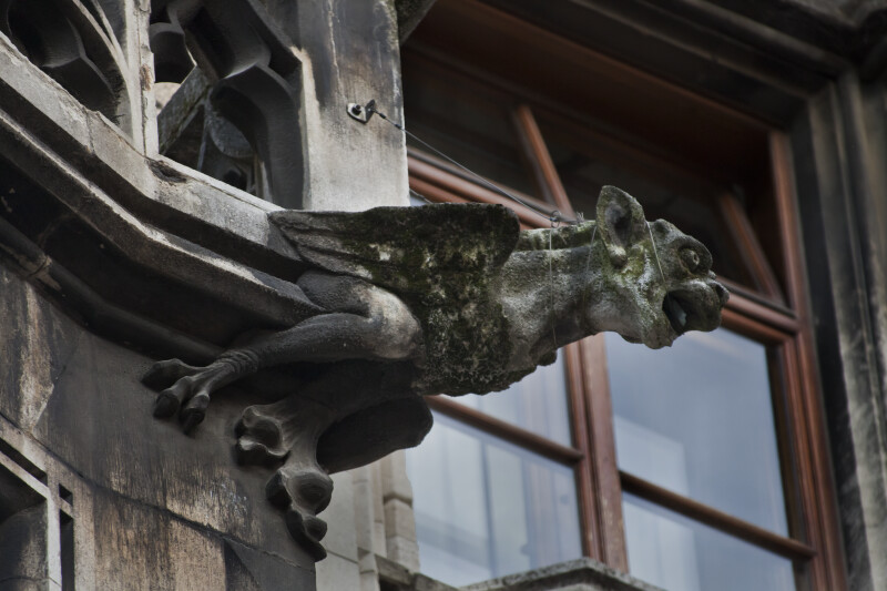 Sculpture of Gargoyle with Wings