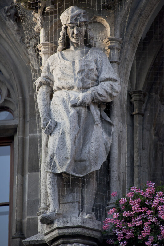 Sculpture of Man Holding Chisel