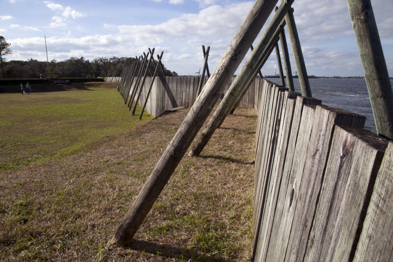 Sea Wall of Reconstructed Fort Caroline
