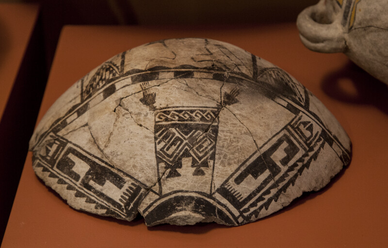 Section of Tabirá Black-on-White Ceramic Canteen