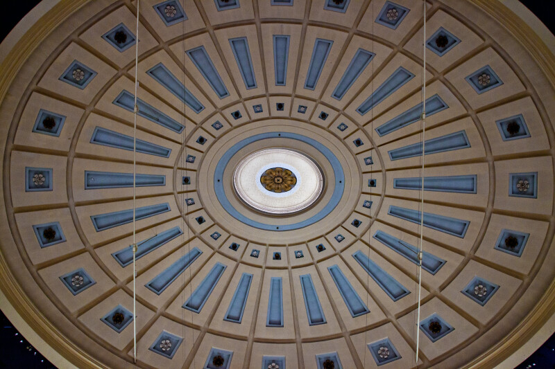 Sectioned, Circular Roof of the Quincy Market