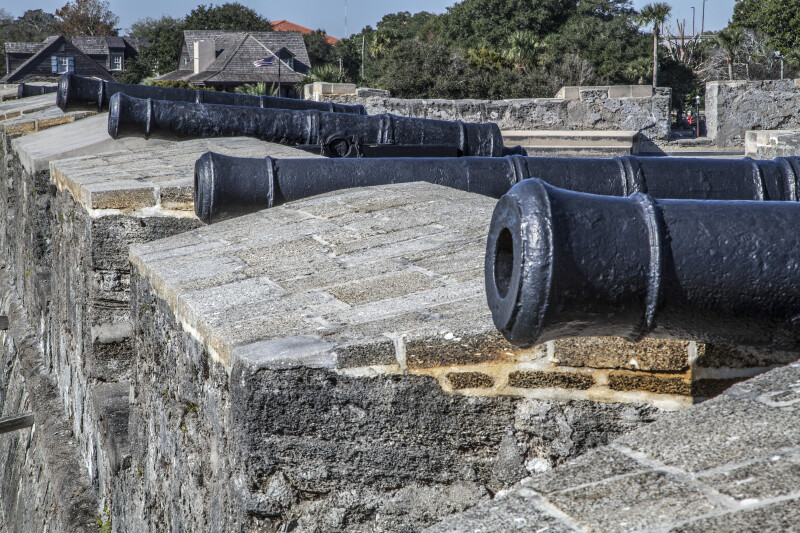 Set of Cannons on the Terreplein of Castillo de San Marcos