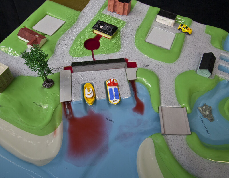 Sewage Treatment Plant Model in a Flood