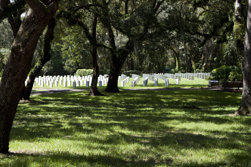 Shade at Florida National Cemetery