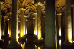 Shallow Pool of Water Reflecting Numerous Columns at the Basilica Cistern