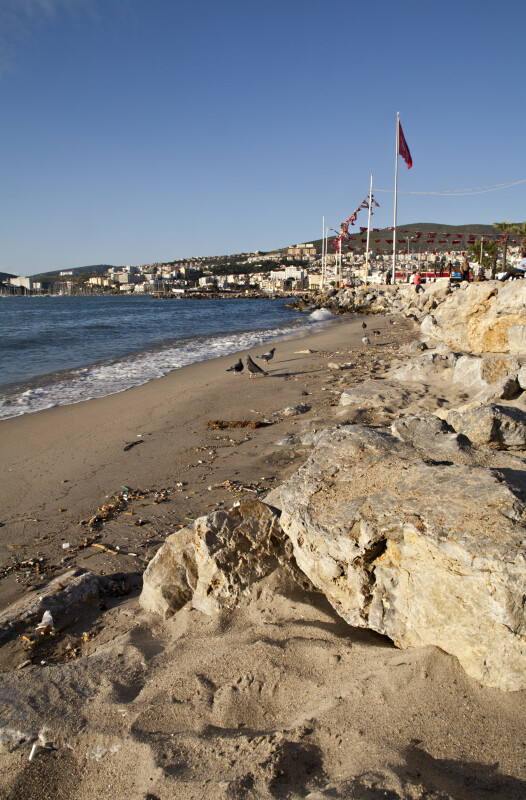 Shoreline in Kusadasi, Turkey