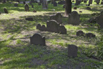 Shouldered Tablet Headstones in a Cemetery