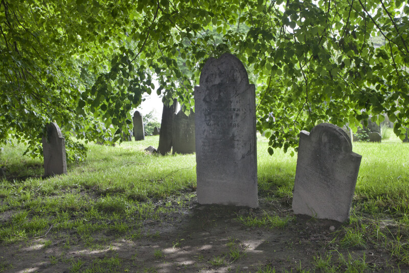 Shouldered Tablet Headstones in the Shade