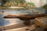 Side of a Dugout Canoe on Display at the Timucuan Preserve Visitor Center of Fort Caroline National Memorial