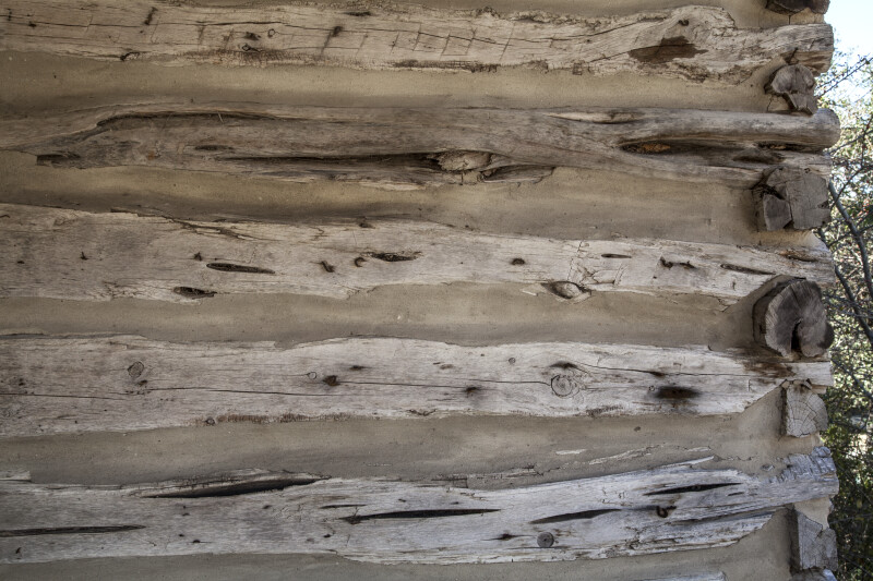 Side of a Wooden Wall