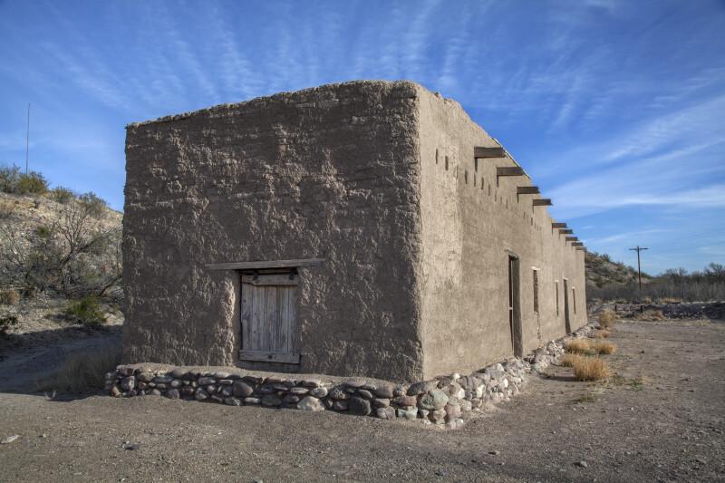 Side of the Alvino House at Castolon