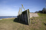 Side of the Sea Wall at the Reconstructed Fort Caroline Site