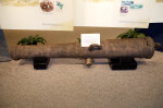 Side View of a Cannon on Display at the Timucuan Preserve Visitor Center of Fort Caroline National Memorial