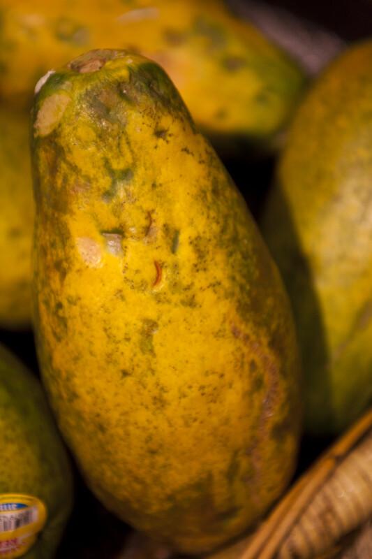 Side View of a Papaya