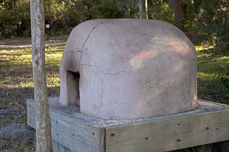 Side View of an Oven at Fort Caroline National Memorial
