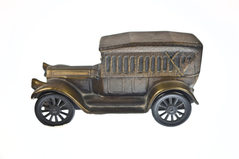 Side View of Antique Car Bank