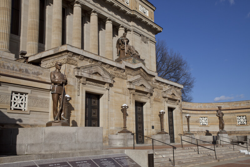 Side View of Entrance at Soliders and Sailors' Memorial Hall