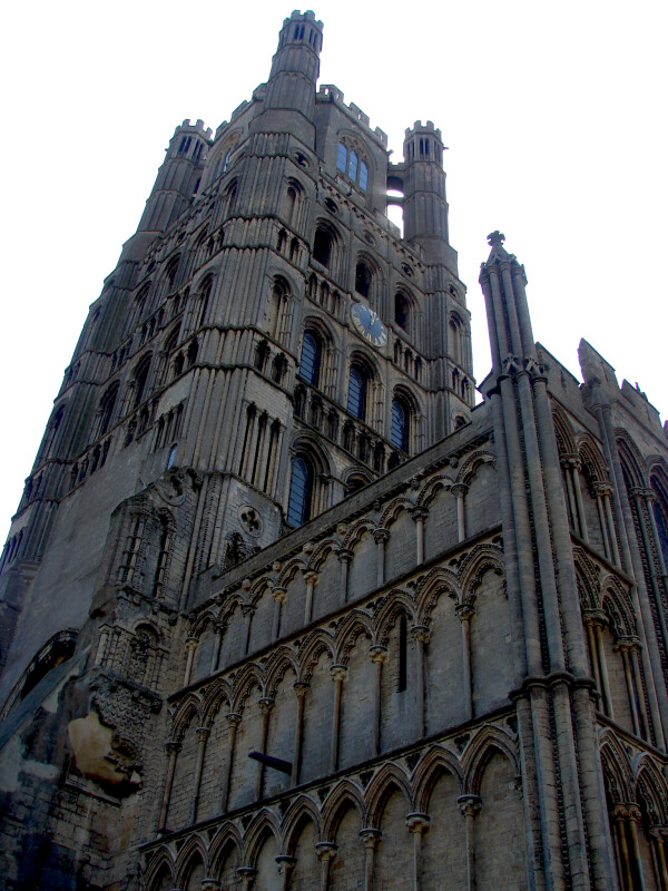 Side View of the Ely Cathedral