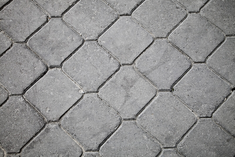 Sidewalk with Repeating Pattern in Kusadasi, Turkey