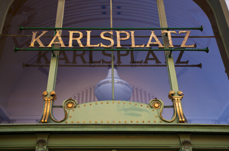 Sign at Karlsplatz