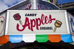 Sign for Candy and Caramel Apples