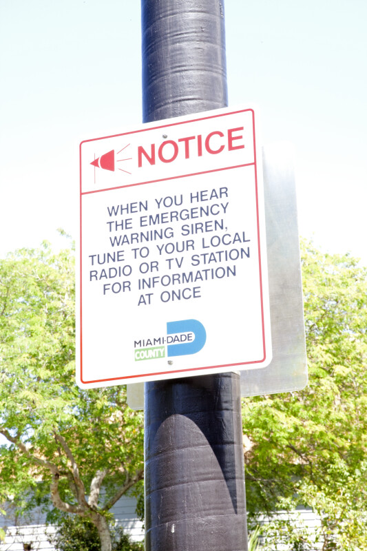 Sign for Emergency Broadcasts