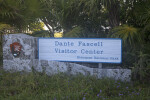 Sign for the Dante Fascell Visitor Center
