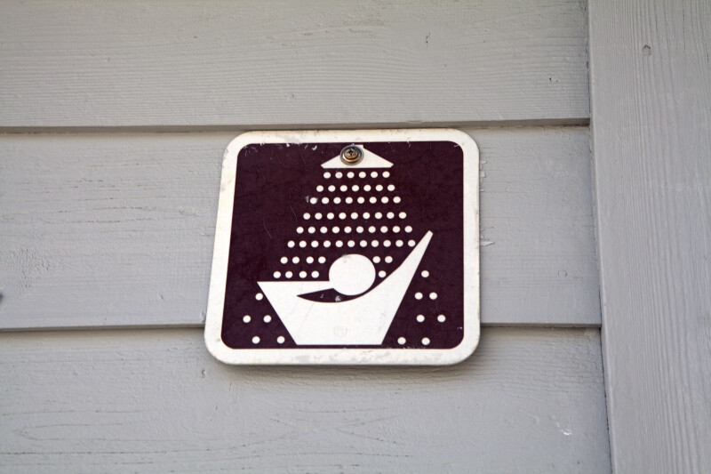 Sign Indicating Showers