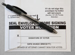 Signature Line on Absentee Ballot Envelope