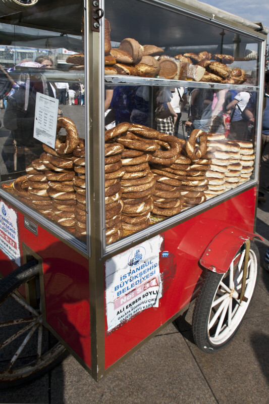 Simit Cart in Istanbul, Turkey