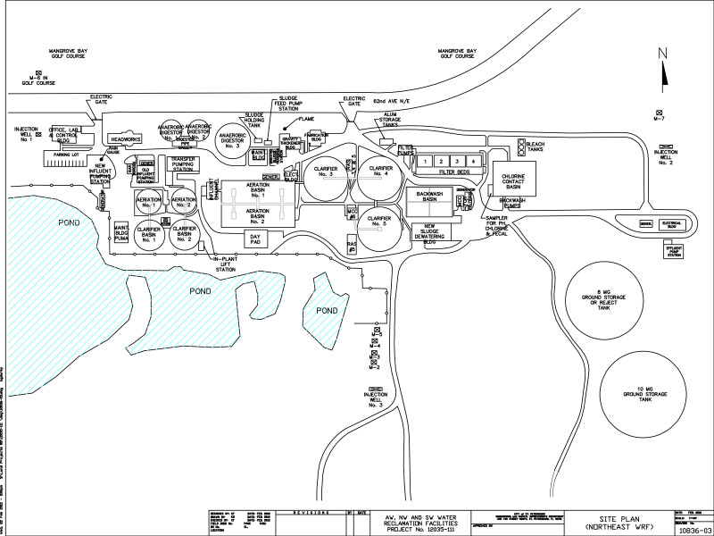 Site Plan of Water Reclamation Facility