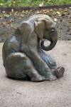 Sitting Bronze Elephant