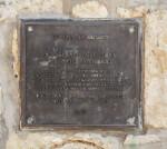 Small Commemorative Plaque at the Espada Acequia