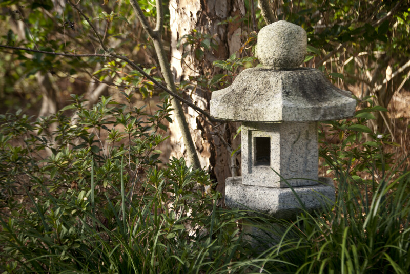 Small Stone Sculpture with Square Hole