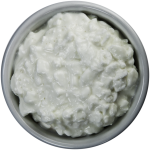 Small White Bowl Filled with Cottage Cheese