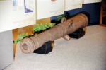 Small, Wooden Cannon with Two Handles