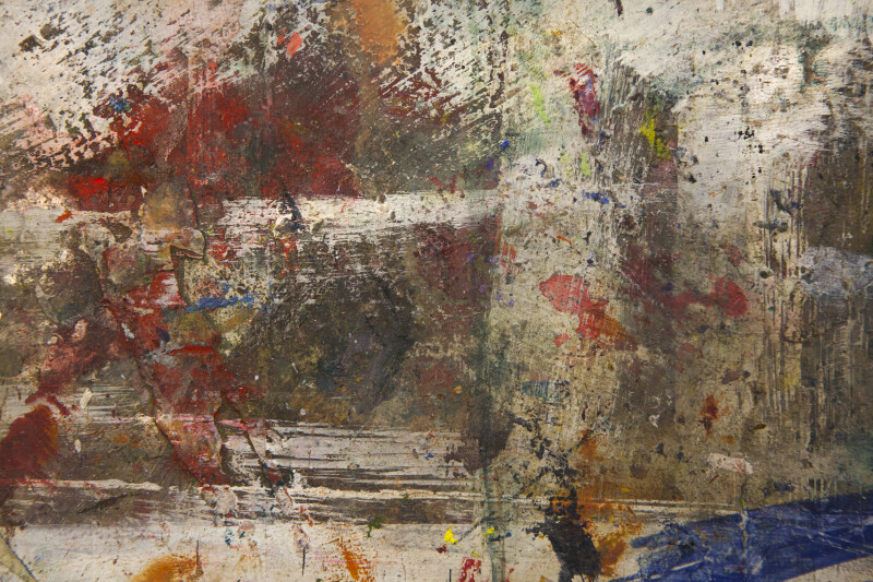 Smeared Paint on a Painting Studio Floor