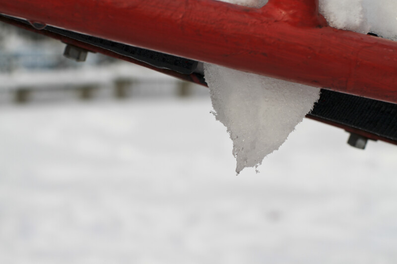 Snow on Playground Equipment
