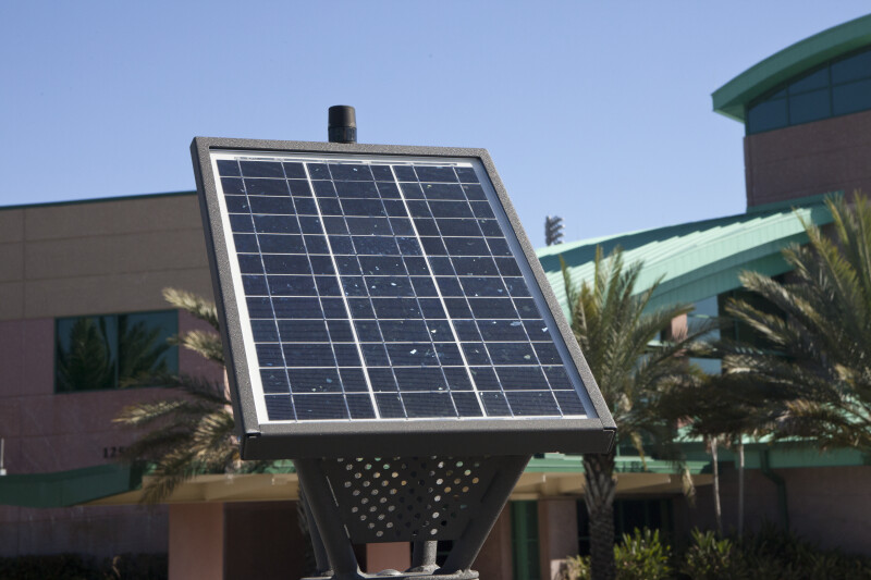 Solar Panel on Emergency Phone Station