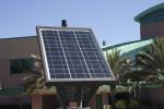 Solar Panel on Emergency Phone Station