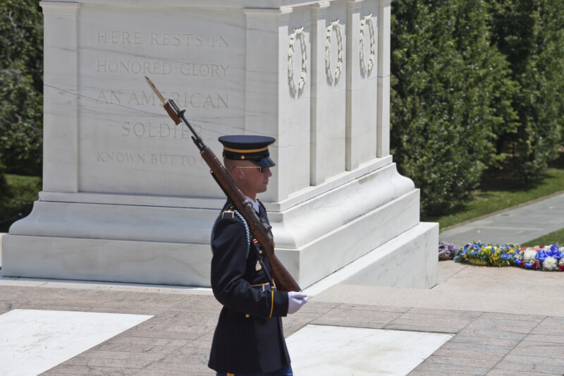 Soldier at Tomb of the Unknown Soldier