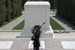 Soldier in Front of Tomb of the Unknown Soldier