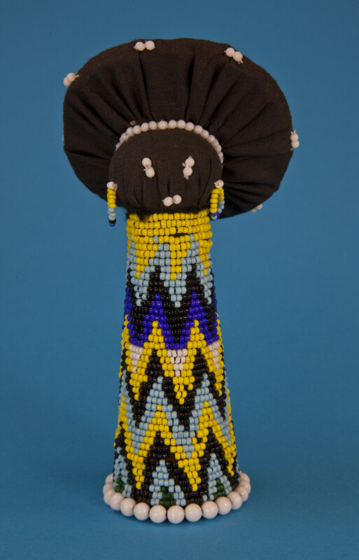 South African Zulu Matron Made with Beads and Cloth (Full View)