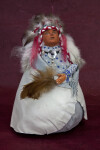 South Dakota Indian Doll Made from Gourd and Clay from Sioux Nation  (Full View)