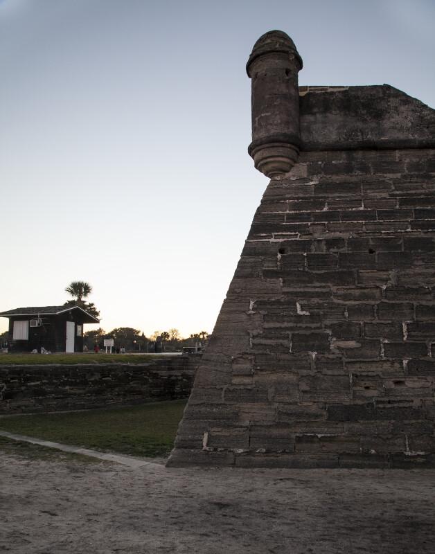 Southeast Corner of Castillo de San Marcos From the Moat